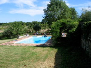 The pool at the Montaigu 'maison bourgeois'