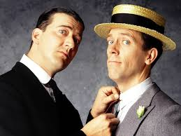 Stephen Fry and Hugh Laurie as Jeeves and Wooster