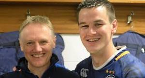 Joe Schmidt and Johnny Sexton in their Leinster days.