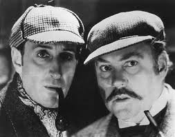 Basil Rathbone and Nigel Bruce as Holmes and Watson