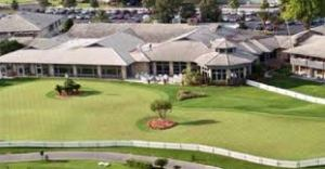 The club house and putting green at Bay Hill, Orlando.