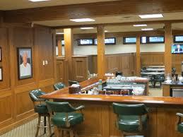The bar in the men's locker room at Bay Hill.