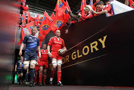 Munster and Leinster take the field at Thomond Park in the old Magners League
