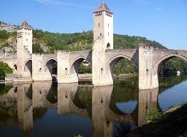 The medieval bridge at Cahors. When we visited, the town had just been battered by a freak summer hail storm.