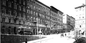 The Via Bramante in Trieste, where the Joyce's lived on the second floor of No 4.