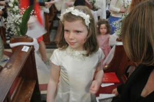 Our daughter Grace on the day of her First Communion, May 19 last year.