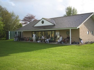 The pavilion at Mere Cricket Club, Wiltshire.