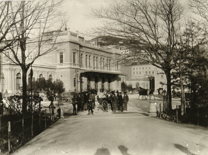 The Trieste train station curca 1904, when Joyce and Nora arrived.