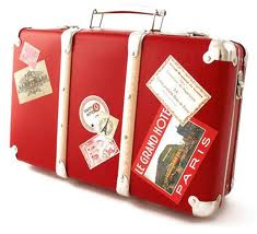 Old-style luggage stickers: now all our memorabilia is digital.