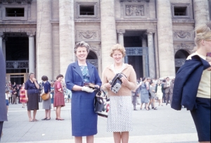 Auntie Vera (left) and friend on Harry and Vera's honeymoon.