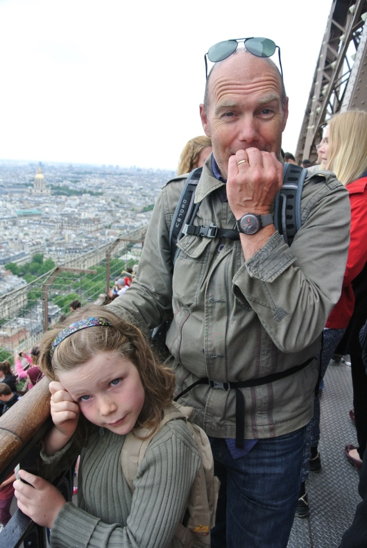 The high life: me (scared of heights) and Grace on level 2 of the Tour Eiffel.