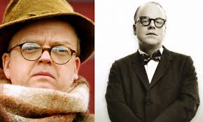 Toby Jones (left) and Hoffman went head-head in rival Capote movies.