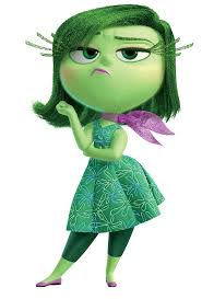 Disgust, voiced by Mandy Kalina, was Grace's favourite character.